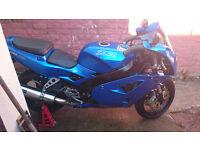 blue Kawasaki zxr400 L 1991 A2 License Uk Version Good Runner
