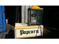Cornpopers popcorn machine and handmade cart.