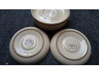 6 Denby pottery saucers