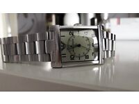 Mens Armani steel watch genuine and in good working order £25