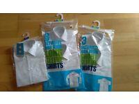 Brand new white shirts, school uniform
