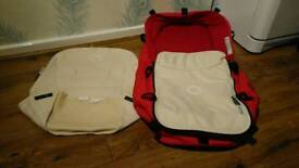 Bugaboo carry cot and pram, pushchair seat fabrics