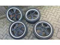 "Car alloys show spec 17"" alloys 4x100 4x108 corsa ford vaxhaull Citroen vw Volkswagen"