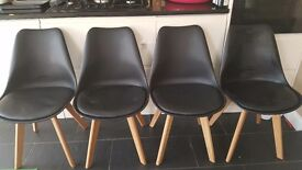 4 Eames inspired dining chairs
