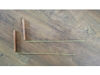 Large Copper dowsing rods 13inch/33cm long with 5inch/13cm copper handles