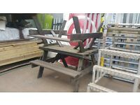 used garden table and bench set