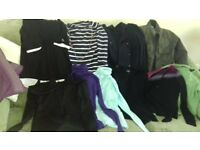 clothes bundle all size 10 some new warehouse very + more.tops jumpers jackets