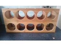 Wooden wine racks (2)
