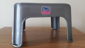 Grey plastic stool