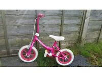 KidCool 12 Inch Bike - Pink/White