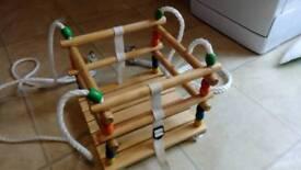 Baby wooden indoor swing