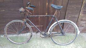 Old bicycle Antique push bike