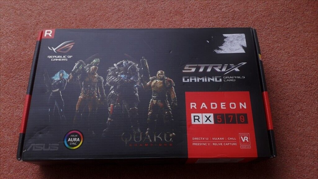 ASUS AMD RX 570 4GB GDDR5 DX12/Vulkan Freesync DUAL GRAPHICS CARD  -EXCELLENT CONDITION- rx570 | in Epsom, Surrey | Gumtree