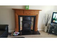 Gazco gas fire with surround