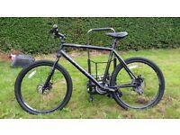 Hybrid style rigid carrera subway mountain bike 22 inch frame