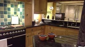 Ex-display due to retirement - Character Oak in-frame kitchen, with granite worktops, sink & tap