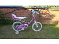Girls 14 inch wheel bike