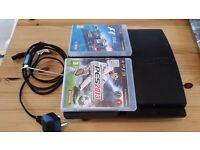 PS3 (Slimline 500GB) + 2 games - For Sale