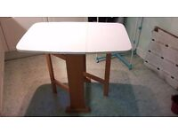 Foldaway kitchen table