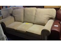 Cream 3 Seater Sofa with 2 Armchairs. - Great Condition £80