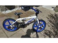 "2015 Rooster Big Daddy Kids Bmx Bike 20"" Blue Skyway Mag Wheels Gyro White RS32"