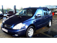 2007 07 KIA SEDONA 2.9 LS 5d 183 BHP, 7 SEATS,PARKING SENSORS, MOT SEP17, PRIVACY GLASS, SERVICE REC