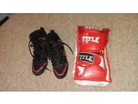Kids Boxing Gloves and Shoes