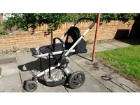 Black mothercare candy buggy with cosy toes & raincover
