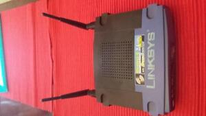 Linksys Router with speed booster (2.4 ghz)