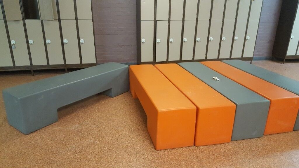 Plastic benches for sale from gym changing rooms in harrow