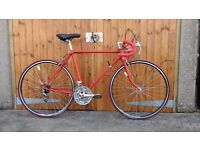 Classic 80s Road Bike, Small 53cm, Fully Restored, 21 gears, Red