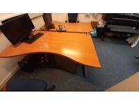 3 x Office desks for sale with 2 drawer units - Best Offer - Can be sold seperately