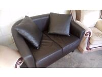 Faux leather two seater sofa BARGAIN! £35 FREE LOCAL DELIVERY within 5 miles STALYBRIDGE SK15 2PT