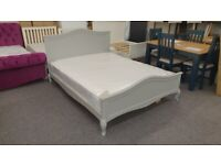 Grey Painted King Size Bed Frame Cabriole Legs (BED ONLY) Can Deliver