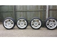 Genuine BMW E85/E86 Z4 Ellipsoid 107 BBS Alloy Wheels (set of 4 Wheels + Tyres)
