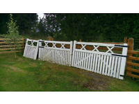 gates with side gate plus electrics if needed