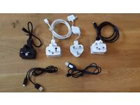 4 x mobile phone chargers and 2 x extra cables for sale