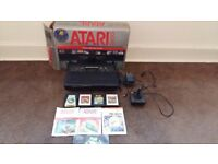 Atari 2600 darth vader model with 4 games and hdm tv