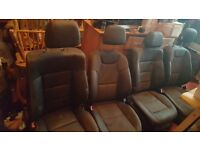 x4 black leather car seats perfect chairs for boys bedroom