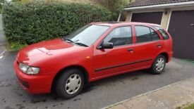 Nissan Almera 1.4 5-door hatchback, 5-speed - Reliable, Low Mileage, Electric Sunroof