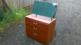 Small Alston furniture three drawer dressing table