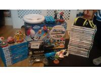 Wii u Premium Pack / Amazing Bundle / 11 Wii U Games + controllers and steering wheel. Great value
