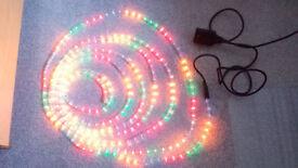 8m multicolour LED Rope Light. Christmas/Xmas Lights.