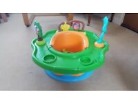 Baby seat, barely used. Rotating tray with moving interactive toys. Great condition.