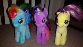 Set of 3 My Little Ponies (soft teddies)