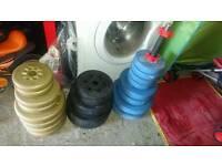 7ft bar 94.8KG weights & dumbbell