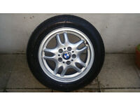 BMW ALLOY WHEEL WITH BRAND NEW TYRE.