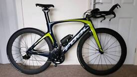 2016 Fuji Norcom 2.5 TT/Tri ic5 full aero carbon bike Shimano 11sp 105 with other upgrades.