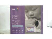 BT VIDEO BABY MONITOR 6000 STILL IN BOX