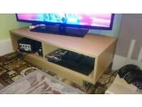 Oak effect cubes TV stand